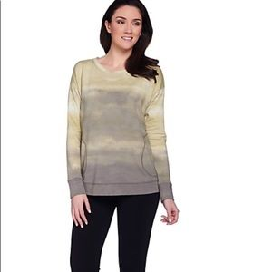 LOGO Lori Goldstein French Terry Ombre Top Small